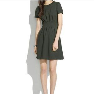 Madewell Parkline Olive Green Short Sleeve Dress